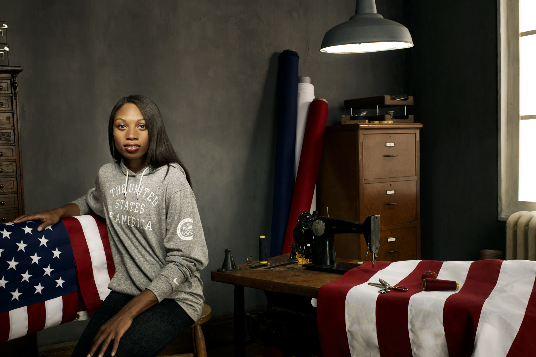 Allyson Felix, US Olympic athlete, photographed by Scott Council