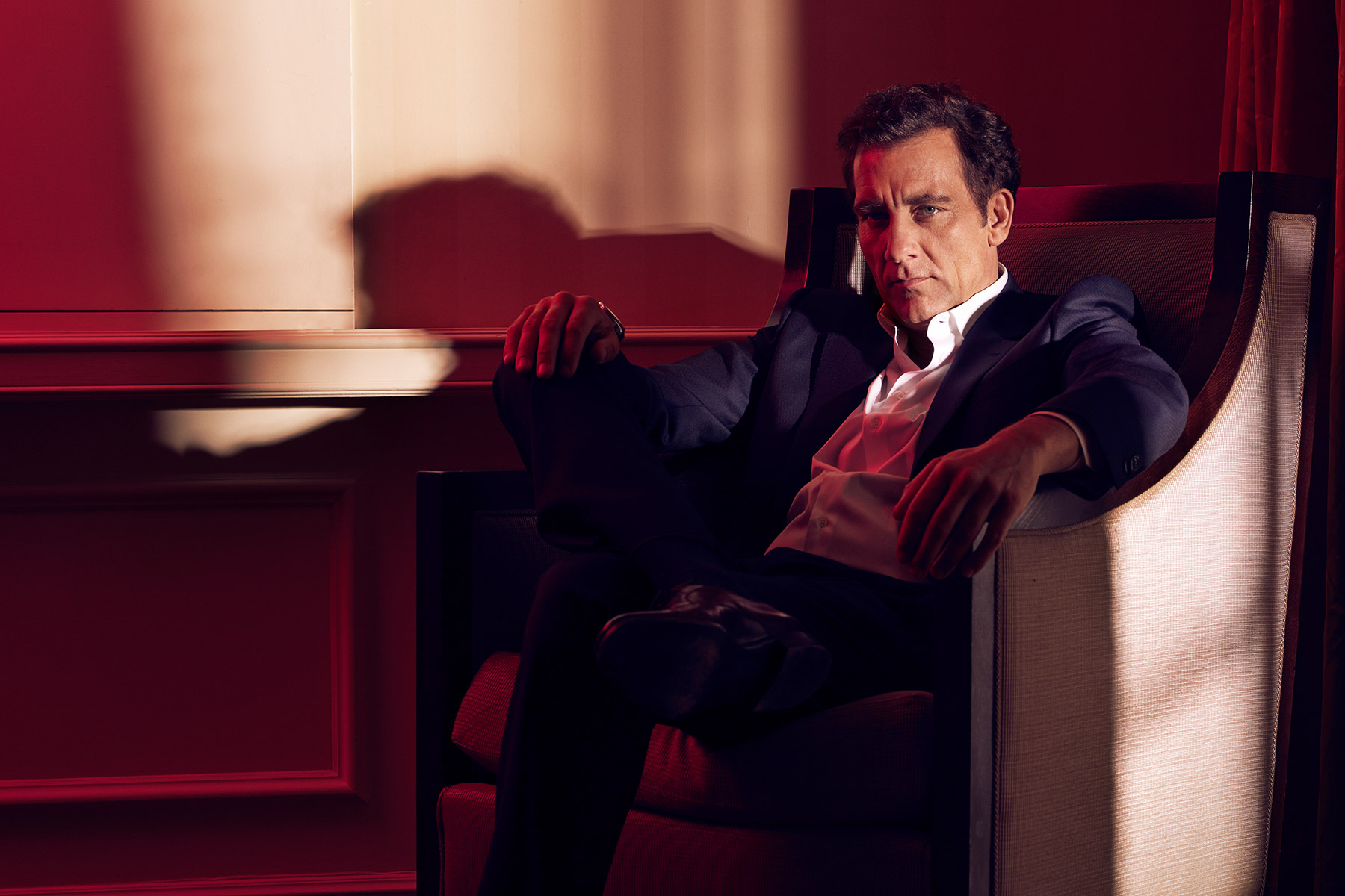 Portrait of Clive Owen photographed by Scott Council