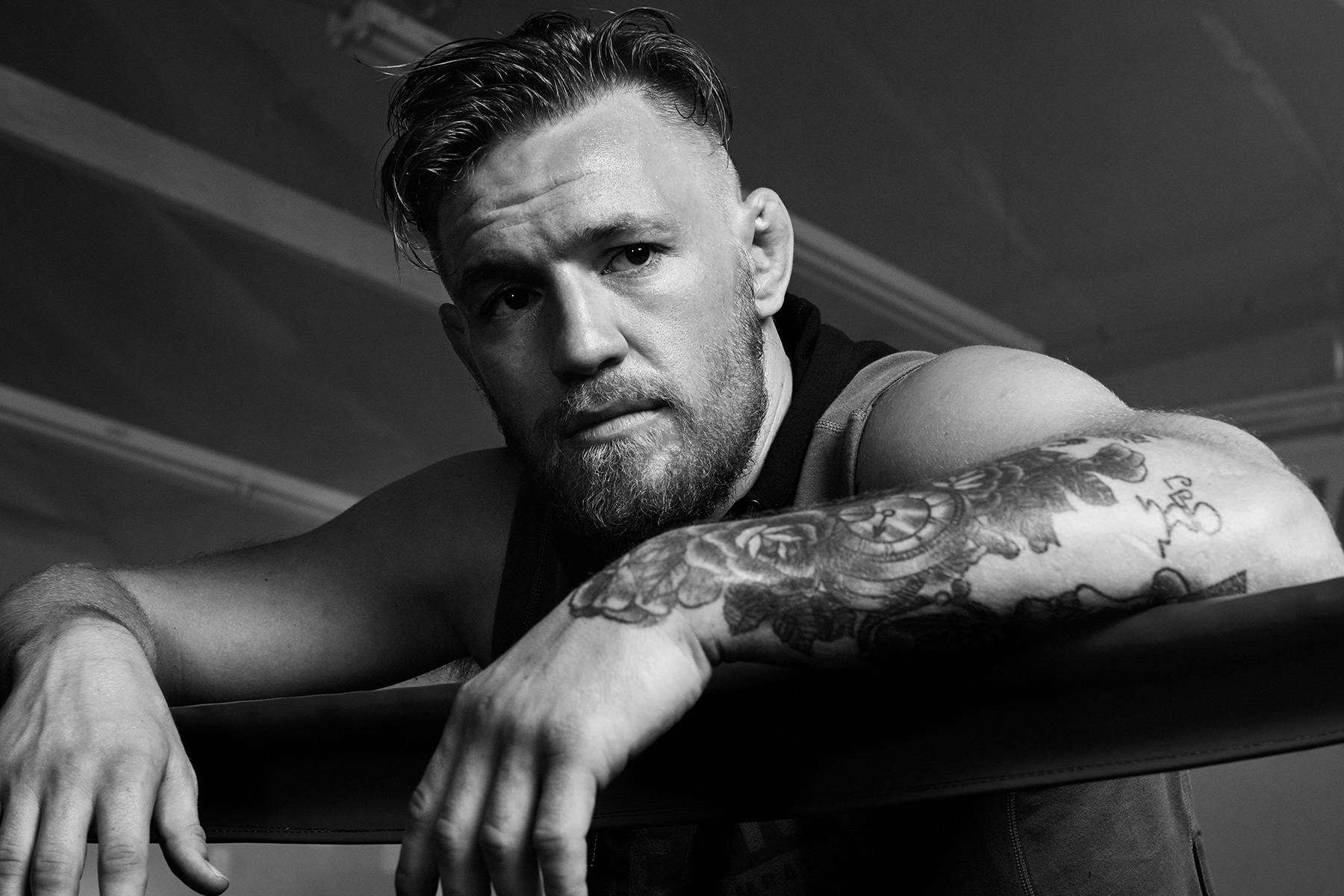 portrait of MMA fighter, Conor McGregor photographed by Scott Council