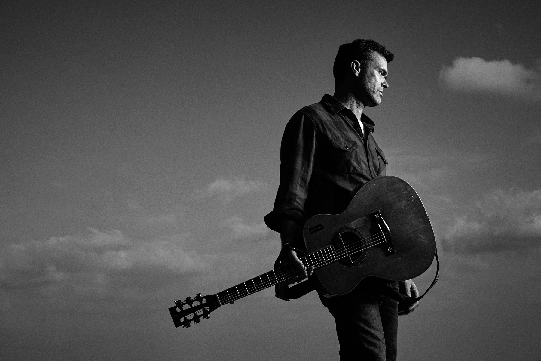 Portrait of Corb Lund photographed by Scott Council