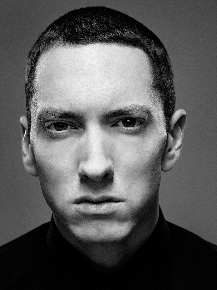 Rapper Eminem photographed by Scott Council