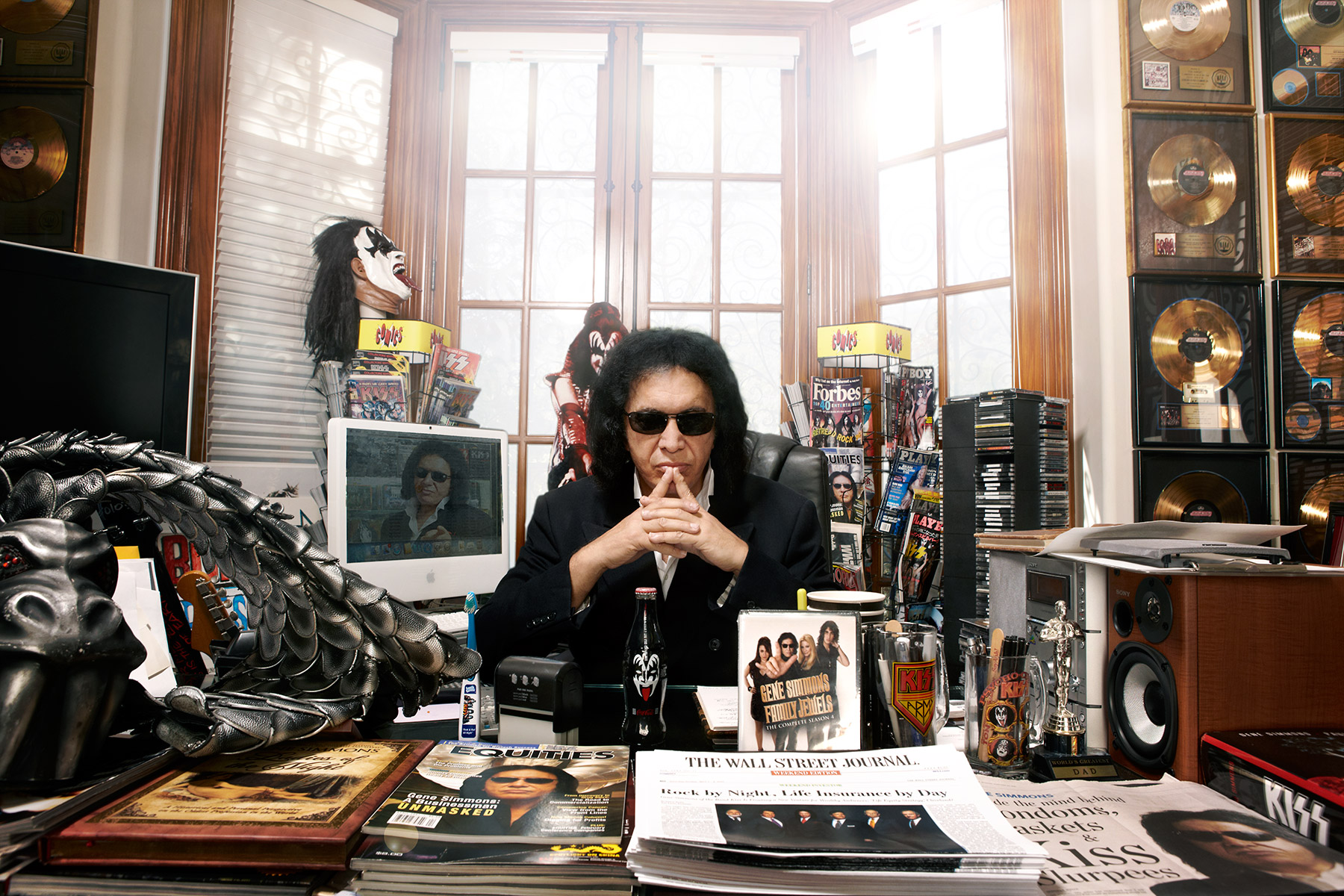 Portrait of Gene Simmons photographed by Scott Council