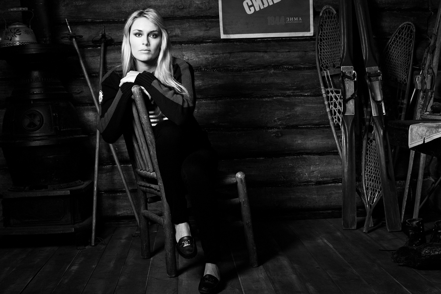 Lindsey Vonn, US Olympic athlete, photographed by Scott Council