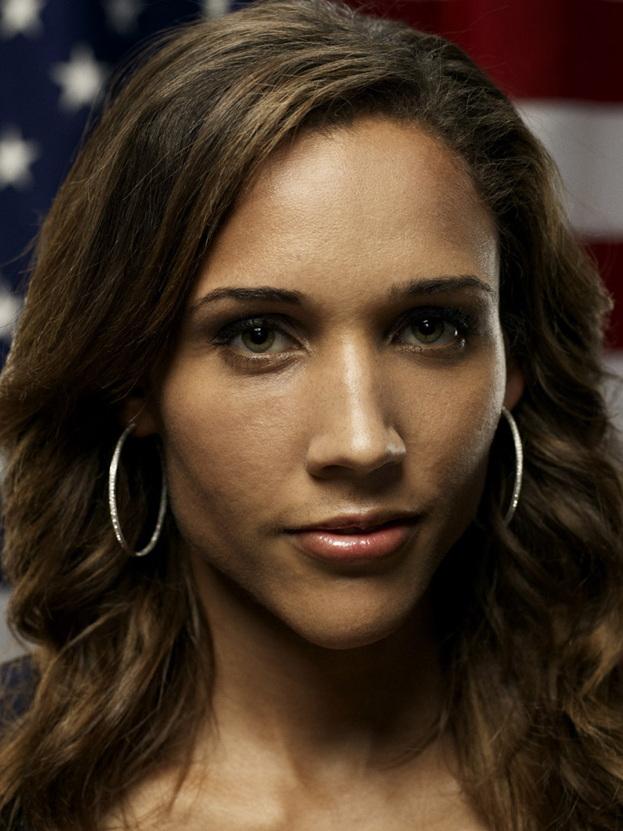Lolo Jones, US Olympic athlete, photographed by Scott Council