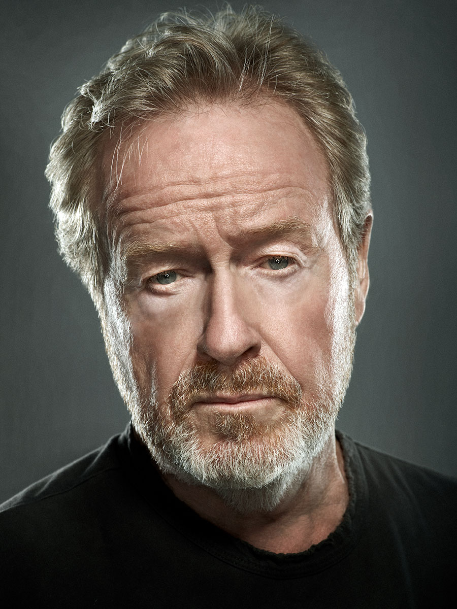 portrait of Director Ridley Scott photographed by Scott Council