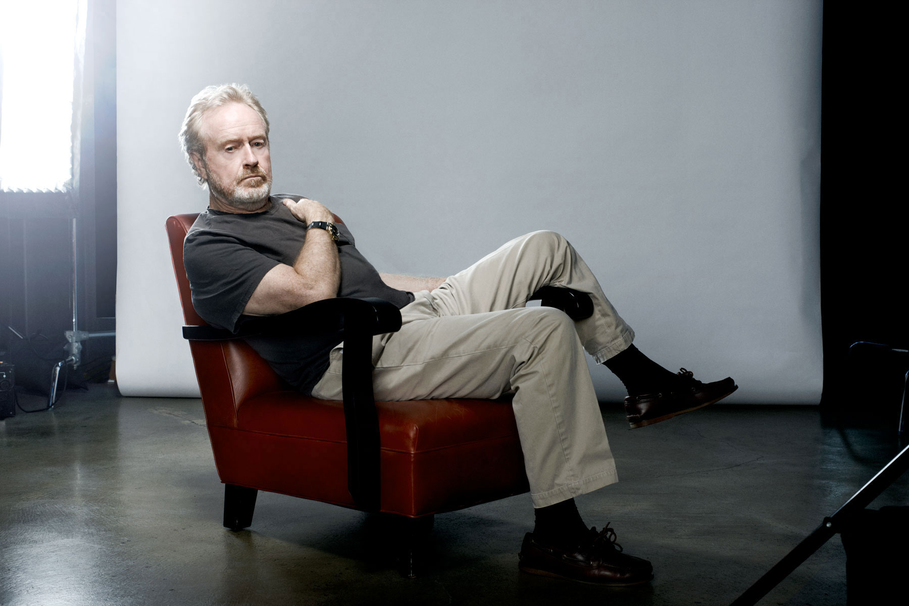 Director Ridley Scott photographed by Scott Council