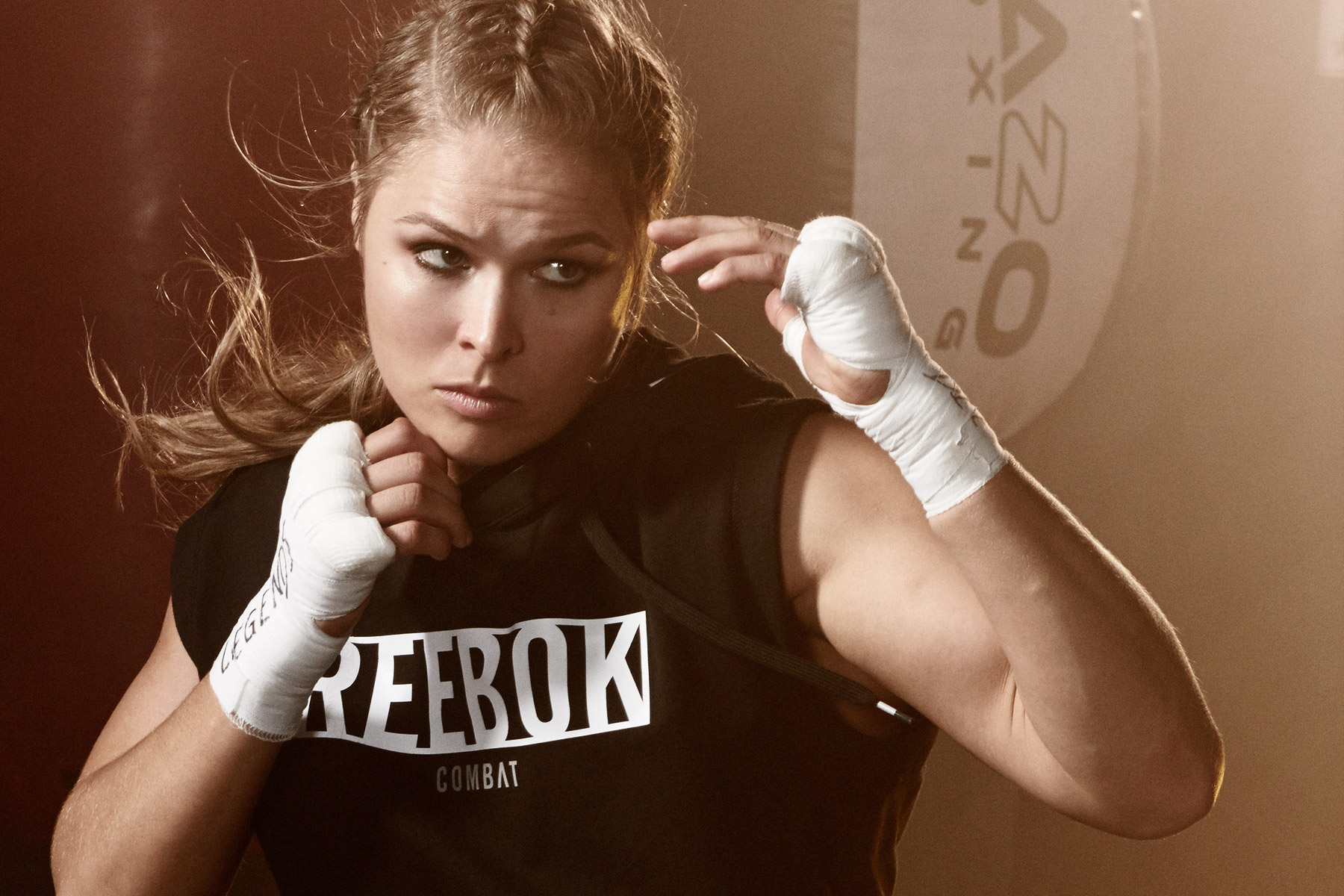 portrait of Female MMA fighter, Ronda Rousey, photographed by Scott Council
