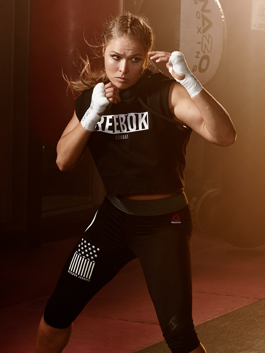 Female MMA fighter, Ronda Rousey, photographed by Scott Council