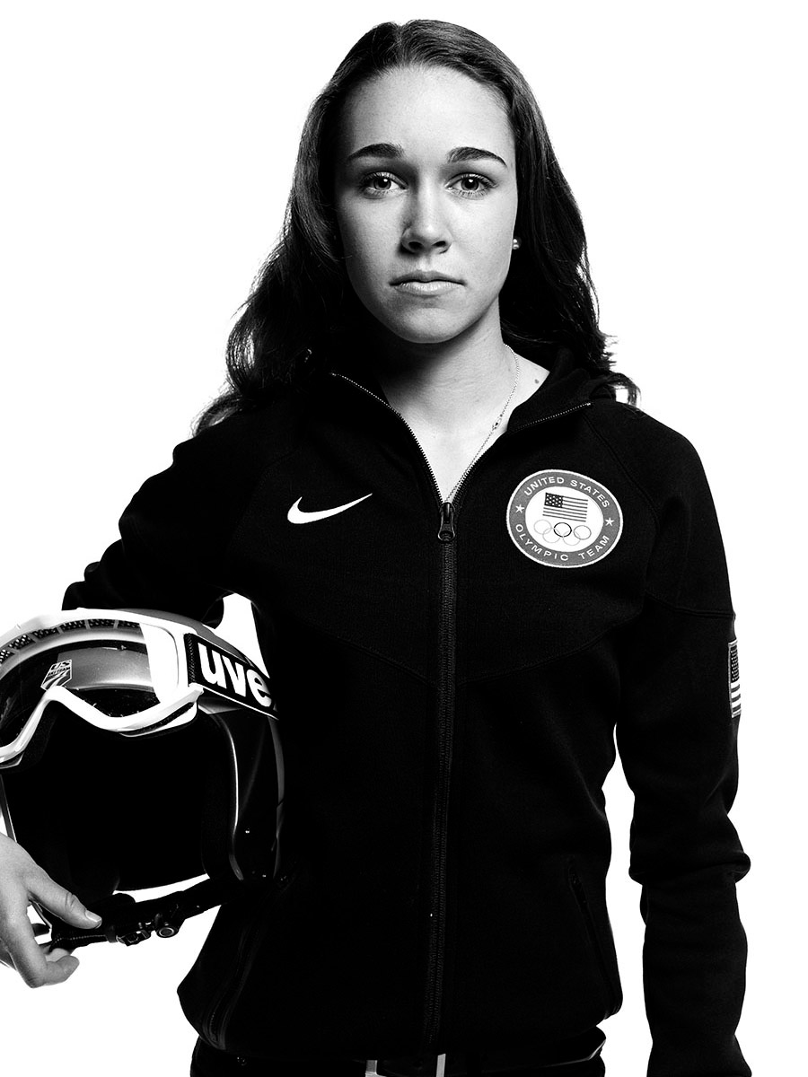 Sarah Hendrickson, US Olympic athlete, photographed by Scott Council