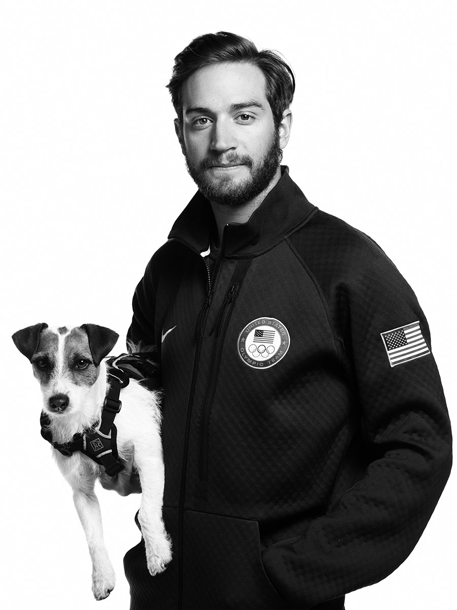 portrait of Scotty Lago, US Olympic athlete, photographed by Scott Council
