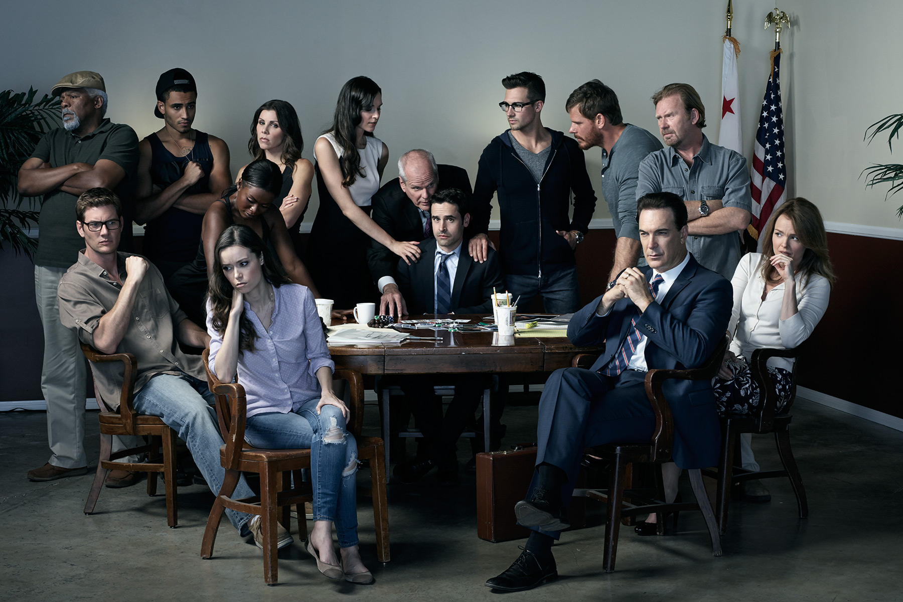 Cast of the tv series, Sequestered, photographed by Scott Council