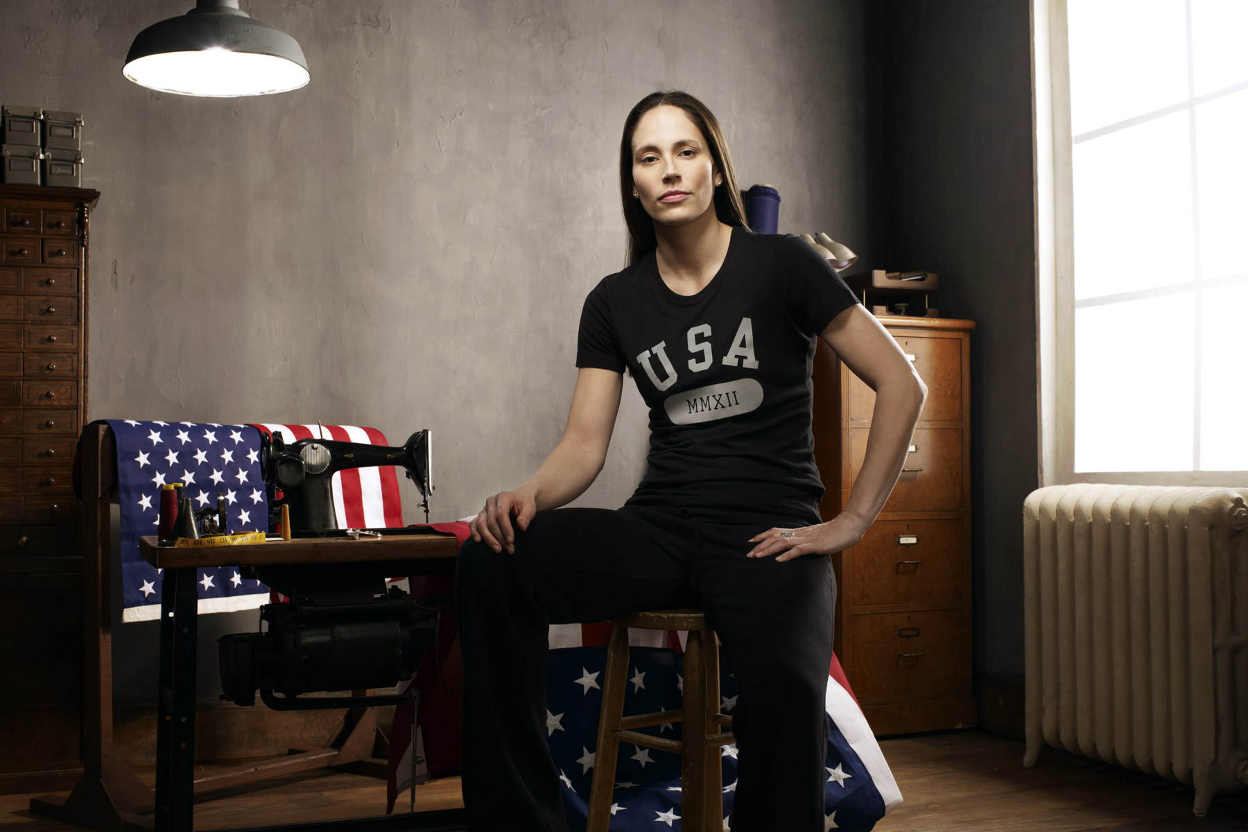 Sue Bird, US Olympic athlete, photographed by Scott Council
