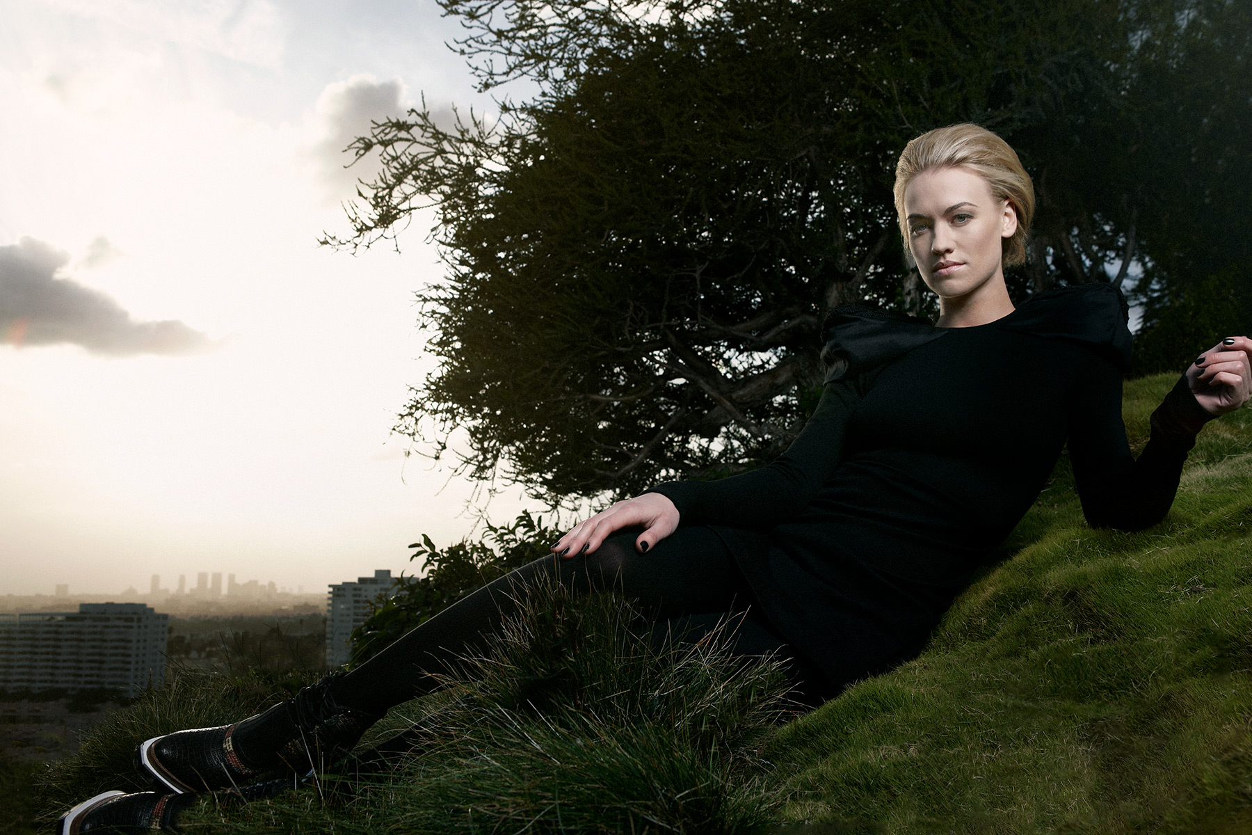portrait of Actress Yvonne Strahovski photographed by Scott Council